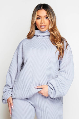 Grey Oversized Roll Neck Sweater