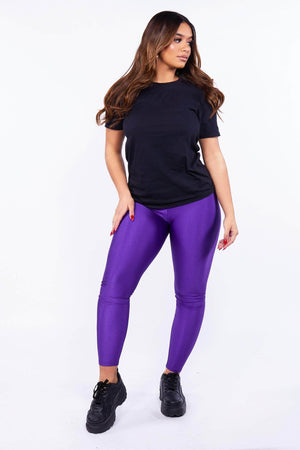 Purple Disco Leggings