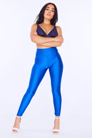 Blue Disco Leggings