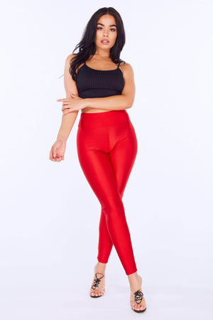 Red Disco Leggings