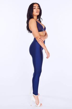 Navy Disco Leggings