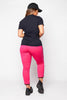 Pink Basic Side Stripe Joggers