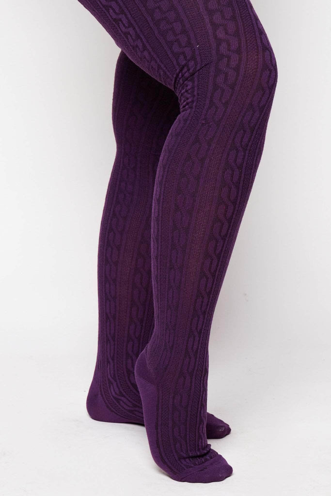 Purple Knitted Tights