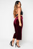 Wine Velour Culotte Trousers