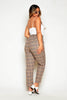 Plus+ Brown Checked Tapered Trousers