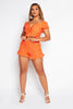 Orange Crochet Frilly Shorts