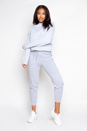 Grey Marl Jersey Sweat Joggers