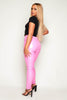 Candy Pink PVC Trousers