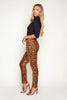 Leopard Printed Tailored Trousers