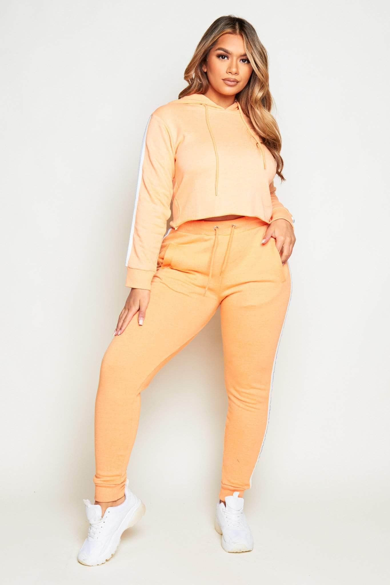 Peach Side Stripe Joggers