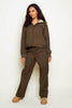 Nike Khaki Shell Wide Leg Track Pants