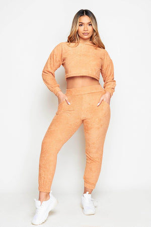 Camel Terry Towelled Joggers