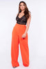 Orange High Waist Wide Leg Trousers