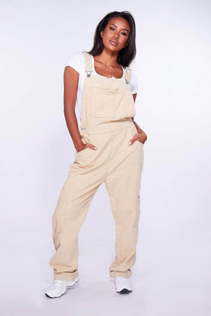 Nude Cord Dungaree Jumpsuit