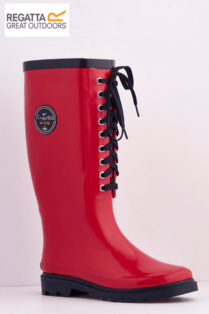 Regatta Red Lady Bayeux II Lace Up Wellingtons