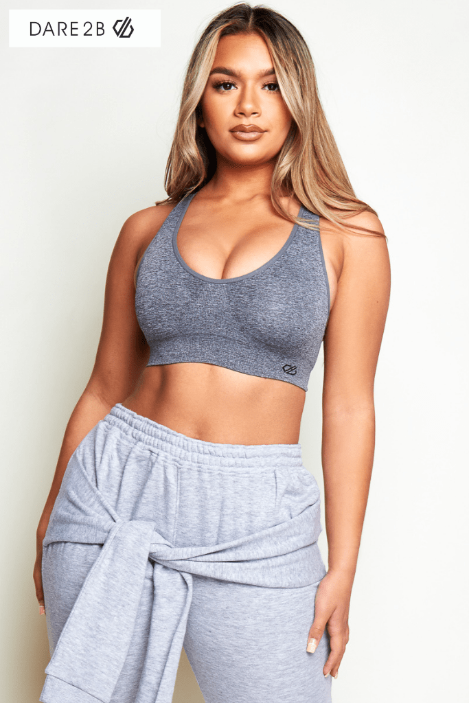 Dare 2B Commence Sports Bra in Mid Grey