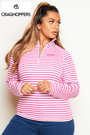 Craghoppers Pink Stripe Half Zip Fleece