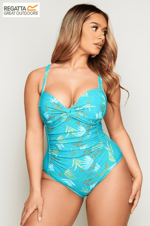Regatta Green Tropical Printed Sakari Swimsuit