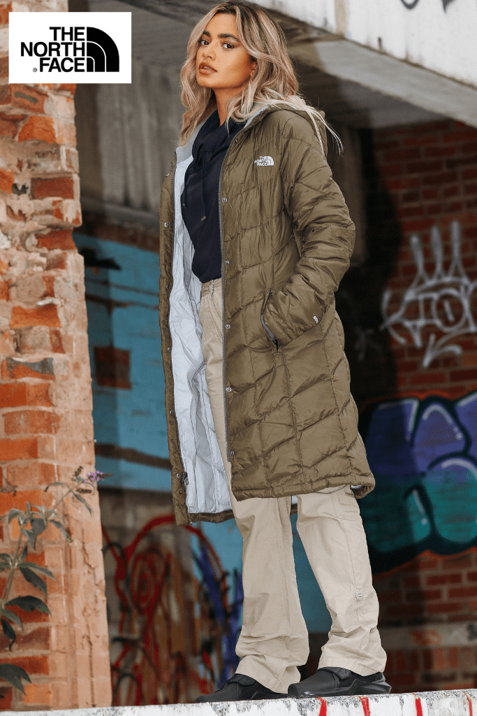 The North Face Taupe Green Responsibly Sourced Down Longline Jacket