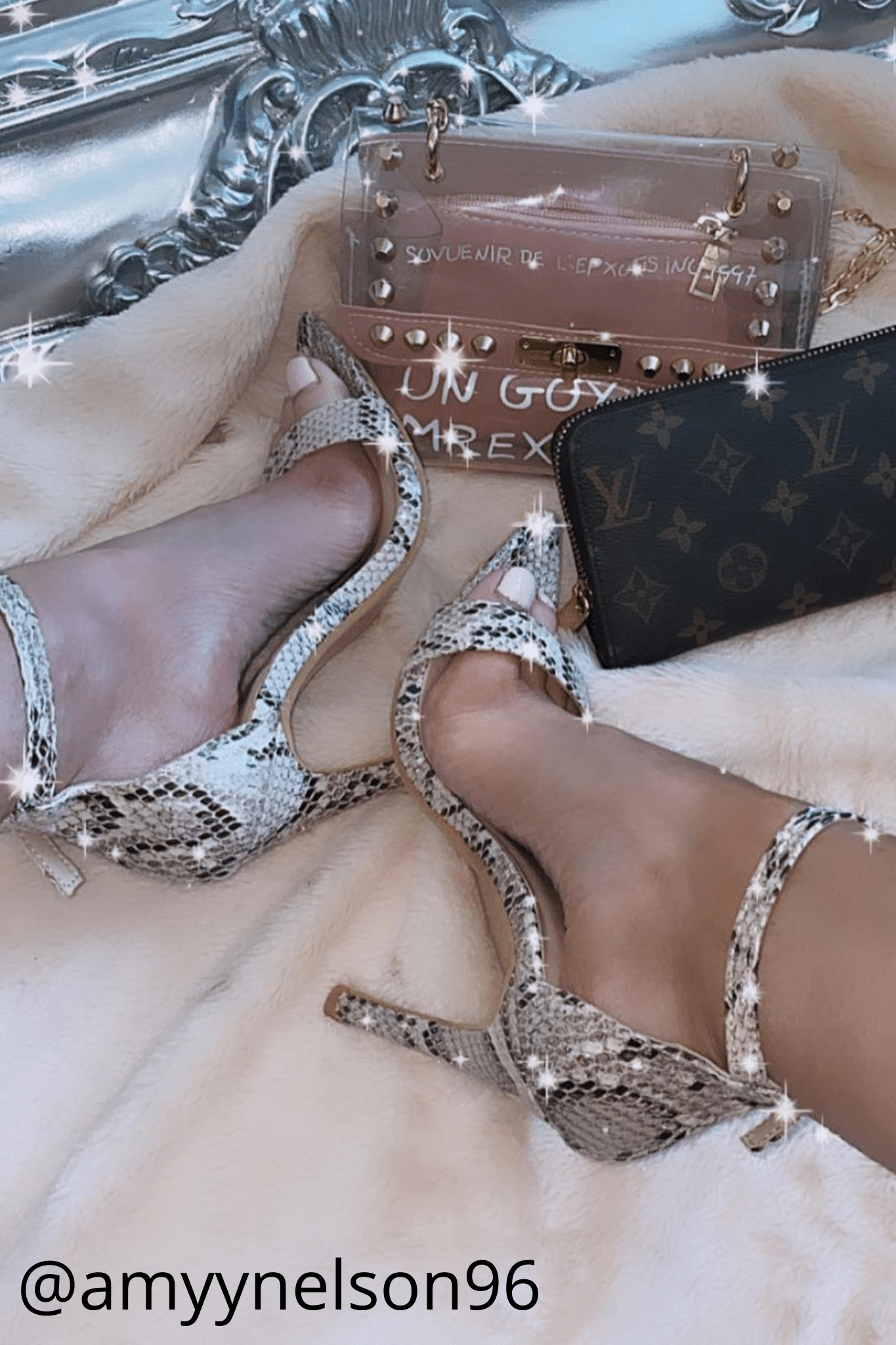 Nude Snake Pu Pointed Dagger Stiletto Heels