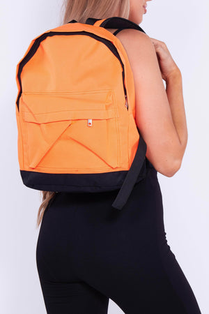 Neon Orange Rucksack