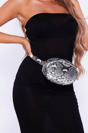 Black & White Snake Bum Bag