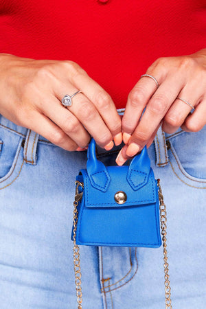 Blue Pu Super Micro Mini Bag