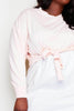 Plus+ Pink Contrast Sweater Shirt Dress
