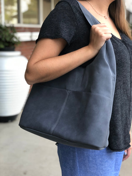Sueded Slouchy Hobo Bag