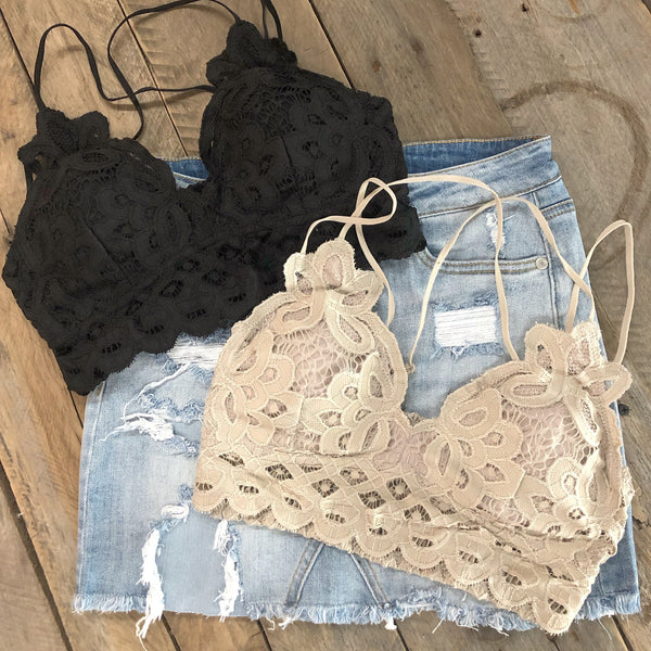 Boho Inspired Bralette - Black