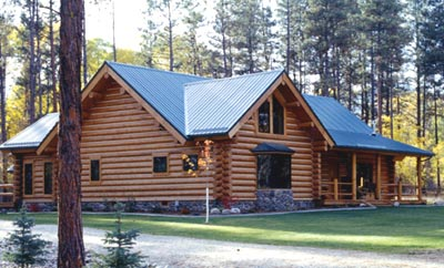 Lifeline Ultra-2 Dark Honey Log Home Stain with Lifeline Advance Gloss finish and Sandstone Perma-Chink.