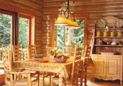 Lifeline Interior Natural Log Home Stain with Lifeline Acrylic and Tan Perma-Chink
