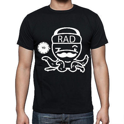 Black Octopus T Shirt Size S M L XL XXL Printed Yo Rad Chill White Crew Top New