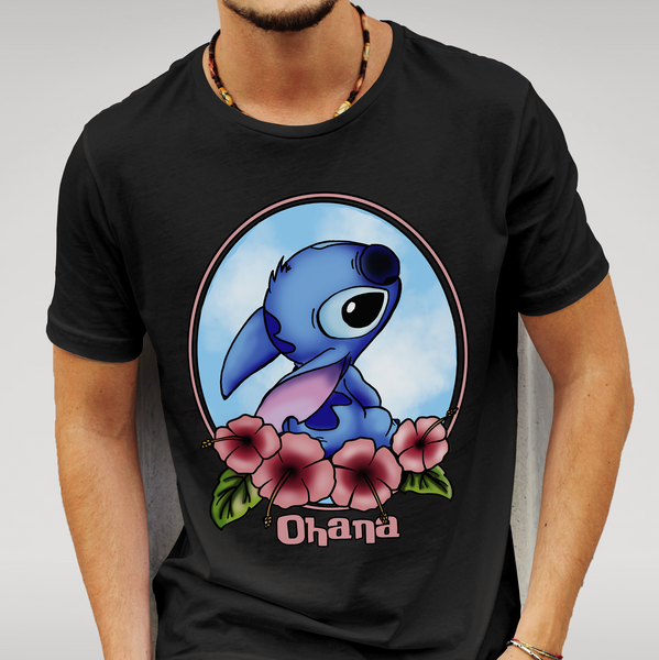 Lilo and Stitch Ohana Cameo T Shirt Size S M L XL XXL Disney Gift New