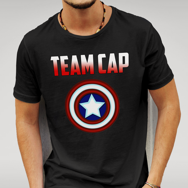 Captain America Civil War - Team Cap - T Shirt Size S M L XL XXL Marvel Gift New