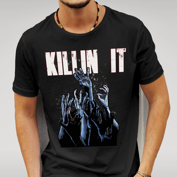 Walking Dead - Killin It - T Shirt Size S M L XL XXL Zombie Gift New