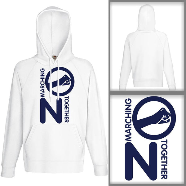 Unisex White Marching On Together Salute Hoodie