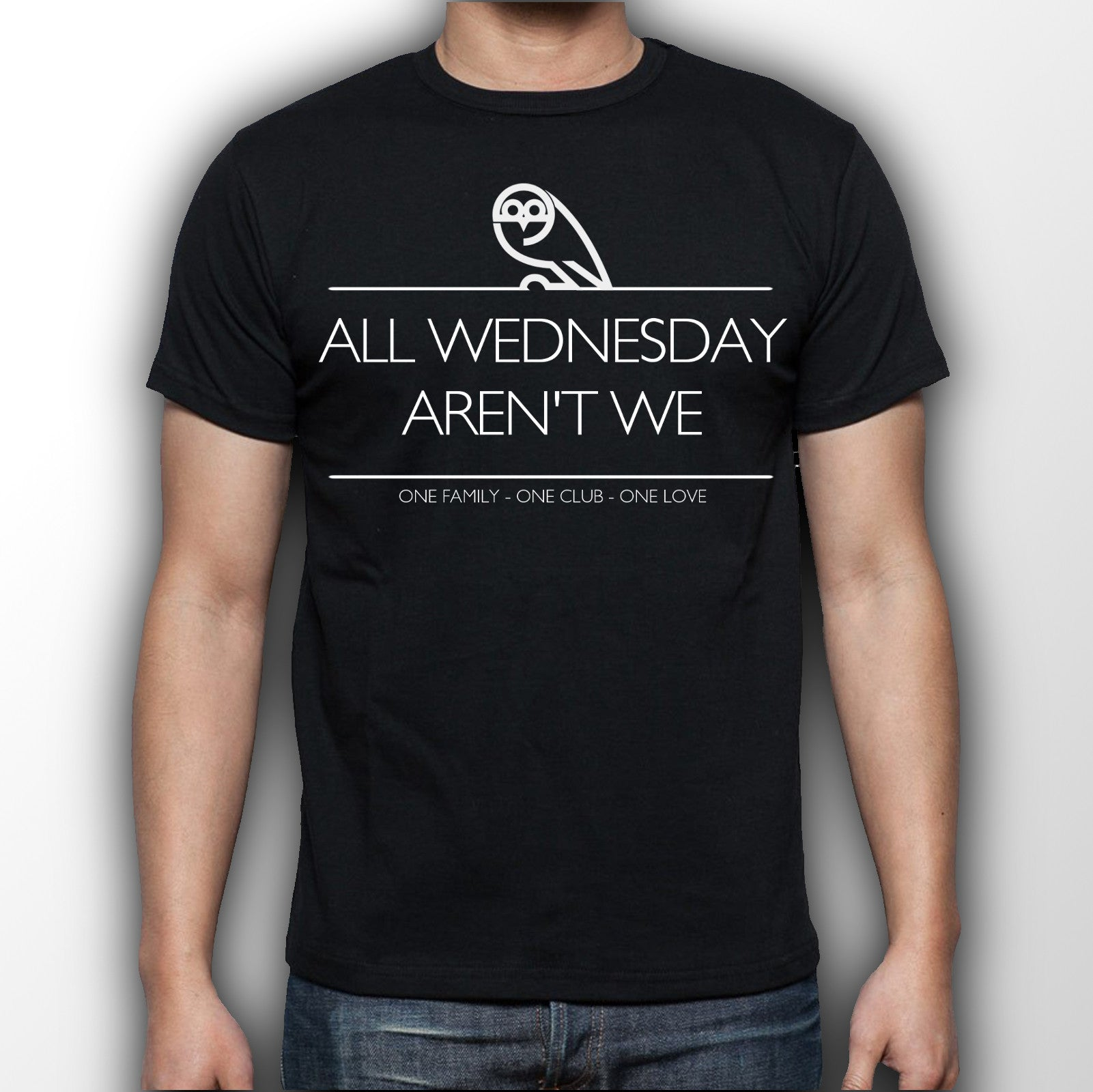 Men's Black All Wednesday aren't we T-shirt