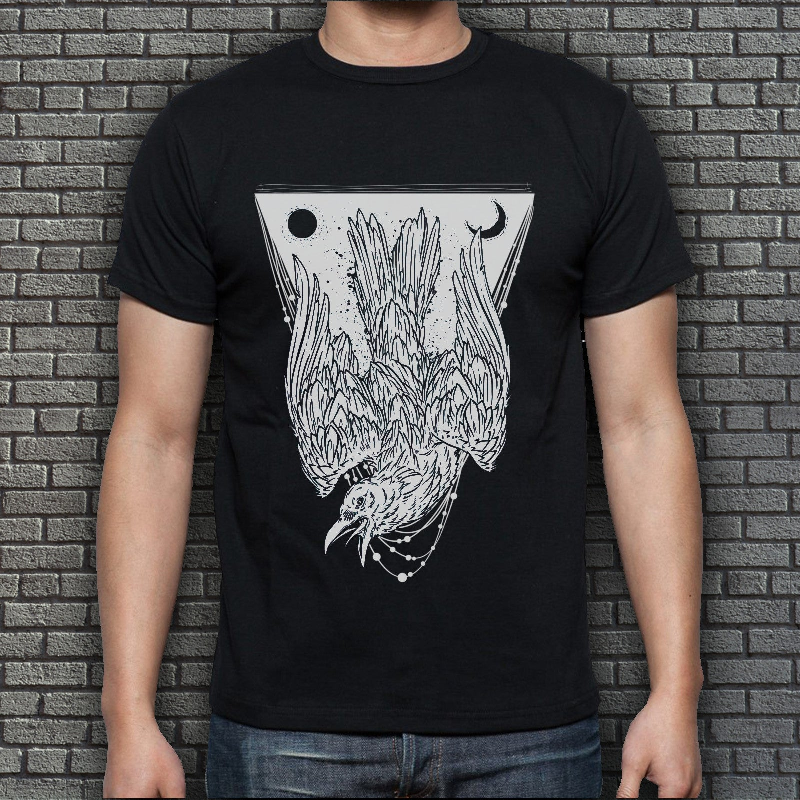 Black Men's Crow T-Shirt