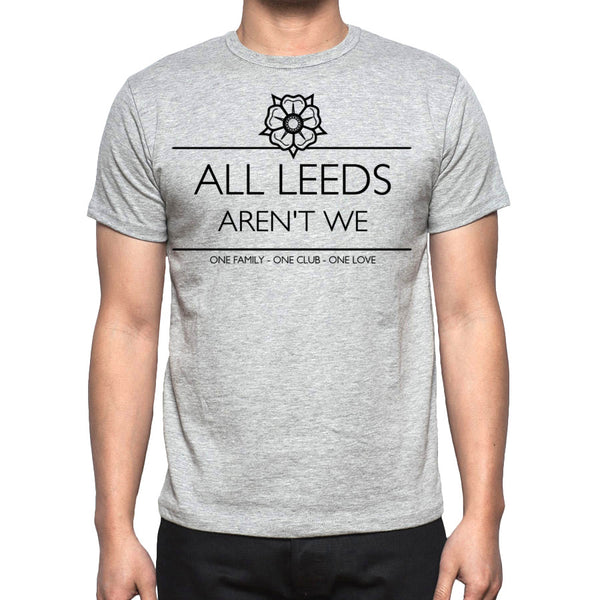 Men's Grey All Leeds aren't we T-shirt