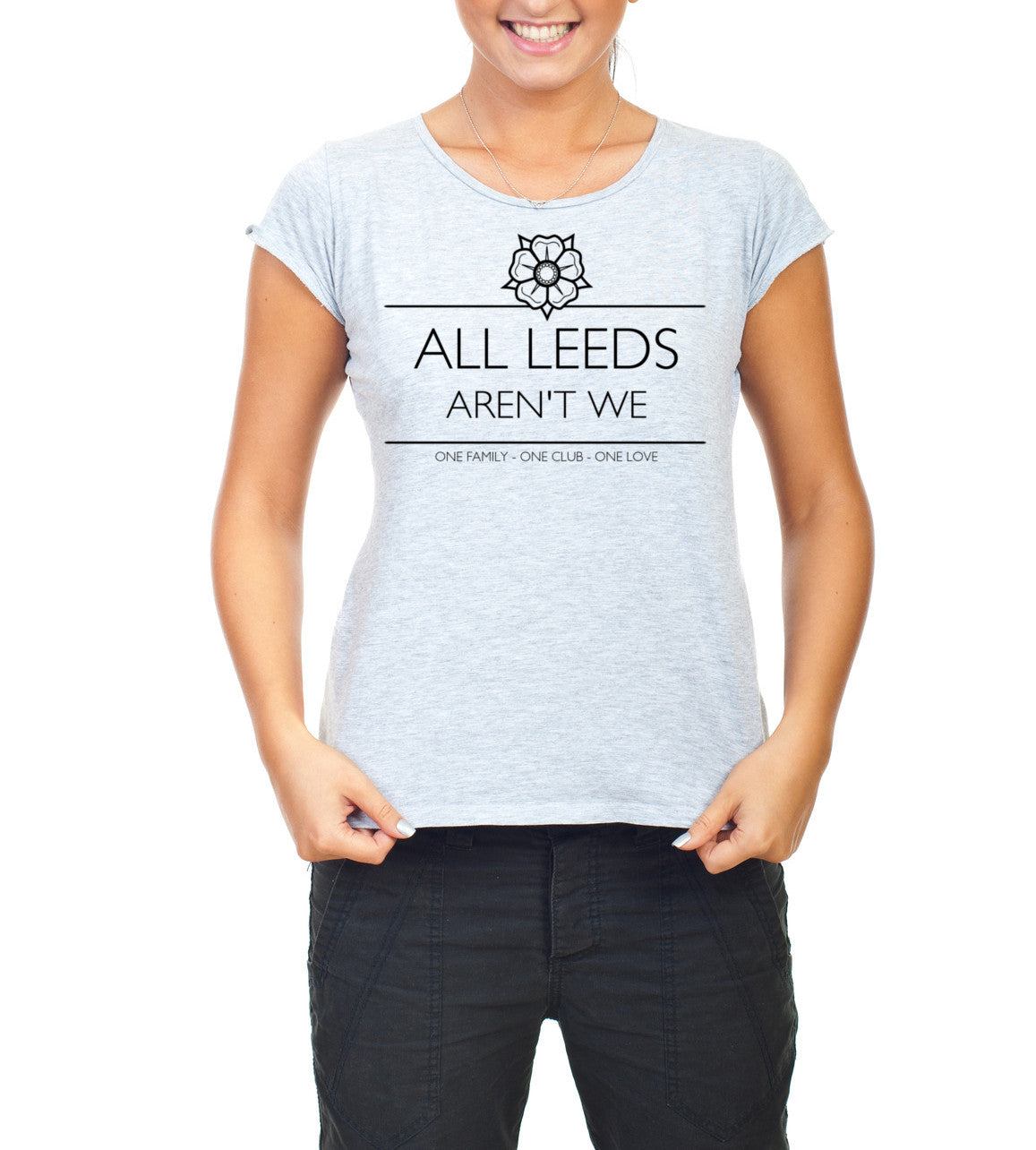 Women's Grey All Leeds aren't we T-shirt