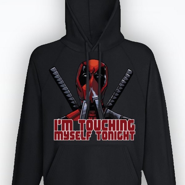 Unisex Deadpool Hoodie - Sizes up to 2XL! - Touching Myself quote