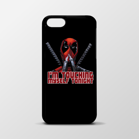 Black Deadpool iPhone case - 6/6s/6plus - Touching Myself quote
