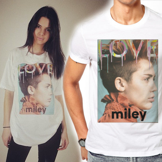Mens Miley Cyrus Love Cover T-Shirt as worn by Kendall Jenner
