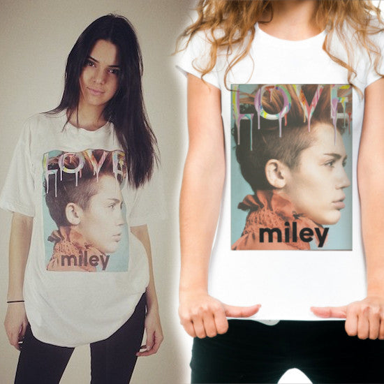 Womens Miley Cyrus Love Cover T-Shirt as worn by Kendall Jenner