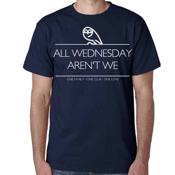 Men's Navy All Wednesday aren't we T-shirt
