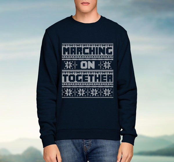 Marching On Together Christmas Sweater Leeds