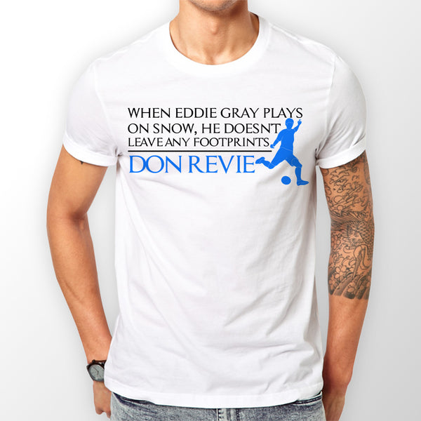 Eddie Gray Leeds T-shirt Men's White Don Revie