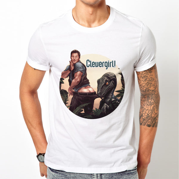 Men's White Clevergirl T-Shirt