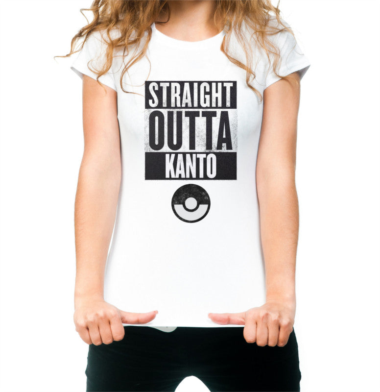 Women's Straight out of Kanto T-shirt White
